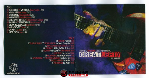 Various Artists - Great Lefty- Live Forever - Tribute To Tony Iommi, Godfather O.jpg
