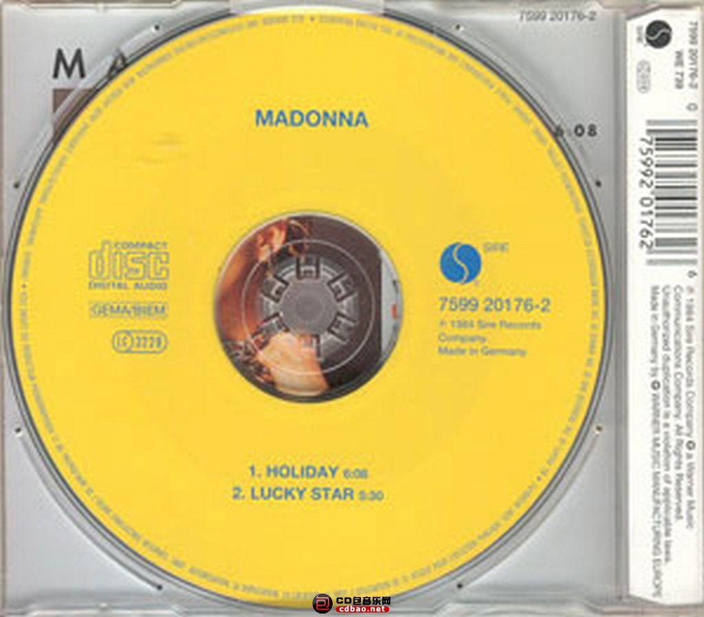 Madonna - Holliday 盘面.jpg