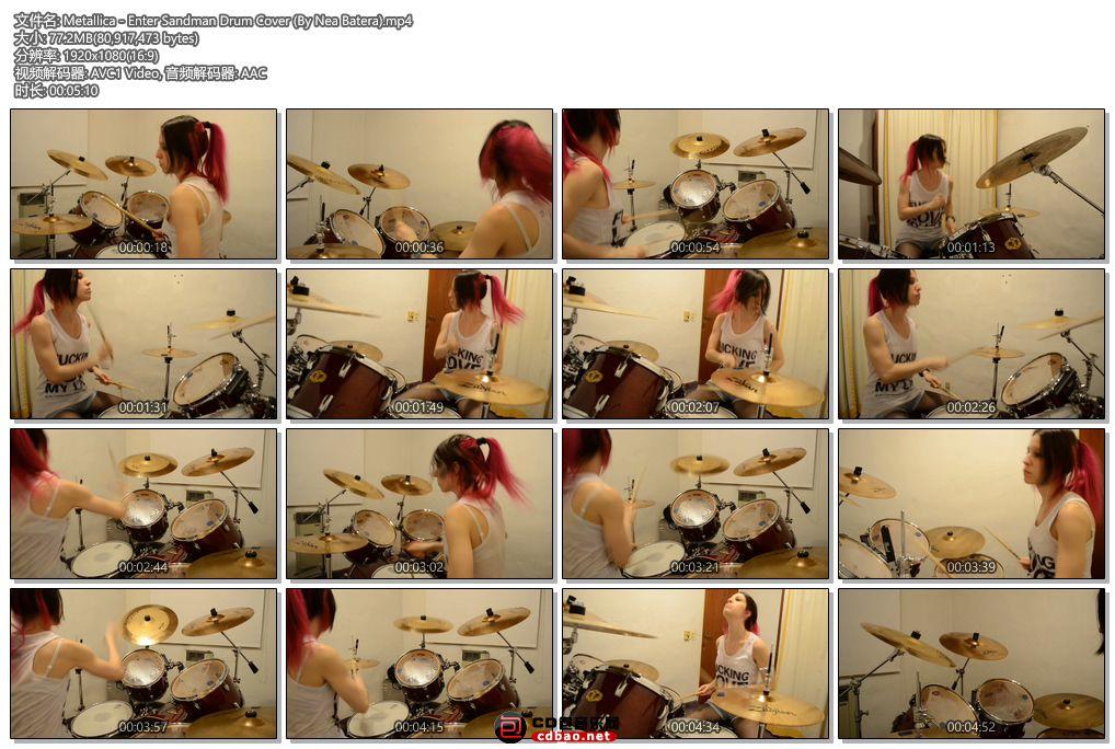 Metallica - Enter Sandman Drum Cover (By Nea Batera).jpg
