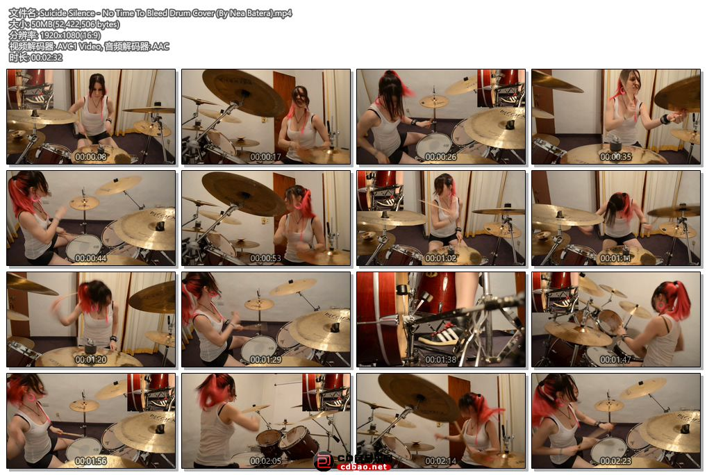 Suicide Silence - No Time To Bleed Drum Cover (By Nea Batera).jpg