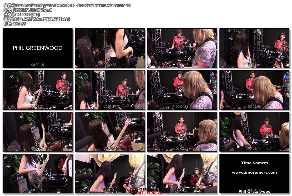 Bass Musician Magazine NAMM 2016 - Gruv Gear Presents Ana Sentina.jpg