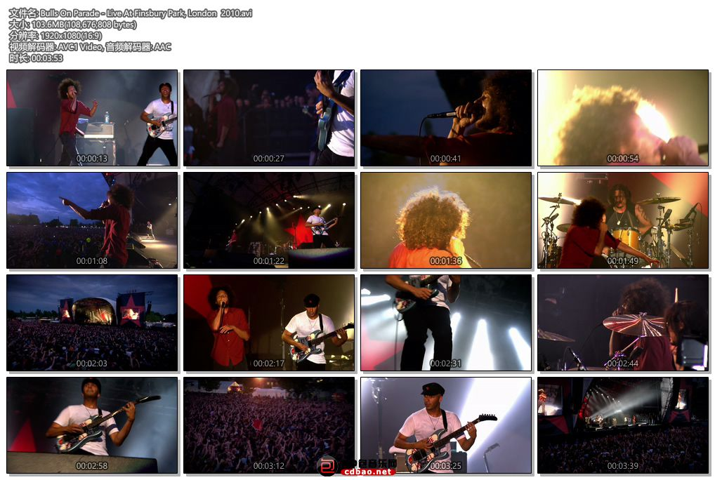 Bulls On Parade - Live At Finsbury Park, London  2010.jpg